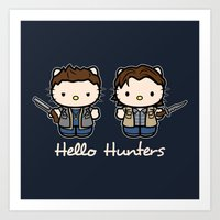 Hello Hunters Art Print