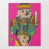 king n queen Canvas Print
