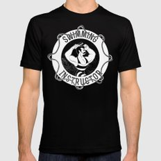 Swimming instructor SMALL Black Mens Fitted Tee