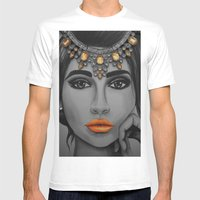 Tangerine Sky Goddess - by Ashley-Rose Standish Mens Fitted Tee White SMALL