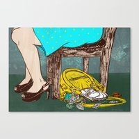 Not being able to seperate your night life and home life Canvas Print