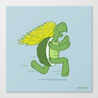 Tortoise and that Hair Canvas Print