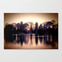 Sunset Across The Lake. Canvas Print