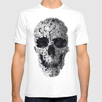 Doodle Skull Mens Fitted Tee White SMALL