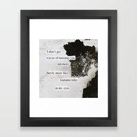 tsunami tides in my eyes Framed Art Print