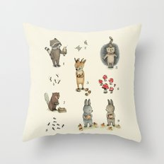 Numbers, Animals and numbers. Throw Pillow