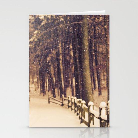 Snowfall Stationery Card
