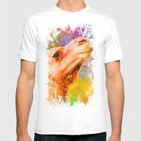 Jazzy Camel Colorful Animal Art by Jai Johnson Mens Fitted Tee White SMALL