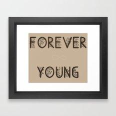 ∞ YOUNG Framed Art Print