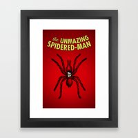 The Unmazing Spidered-Ma… Framed Art Print