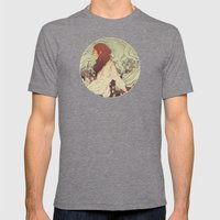 Pollutants Mens Fitted Tee Tri-Grey SMALL