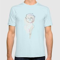 Oneline Liz Mens Fitted Tee Light Blue SMALL