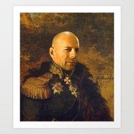 Bruce Willis - Replacefa… Art Print