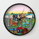 Good Magazine Neighborhoods Wall Clock