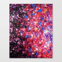 WRAPPED IN STARLIGHT Bold Colorful Abstract Acrylic Painting Galaxy Stars Pink Red Purple Ombre Sky Canvas Print