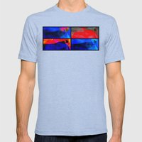 Summer in Rio Mens Fitted Tee Tri-Blue SMALL