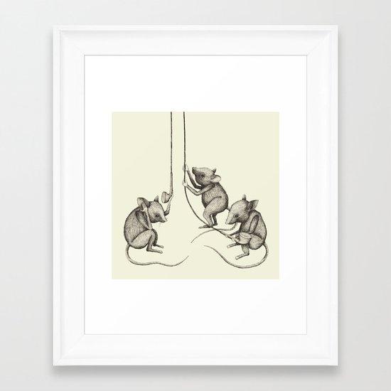 'Strange Sounds' - Analog Zine Framed Art Print