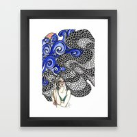 Copacabana Girl Framed Art Print