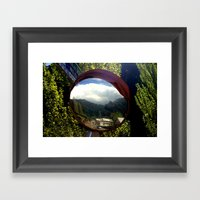 A Town Inside A Bubble Framed Art Print