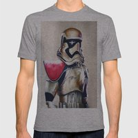First Order Stormtrooper Mens Fitted Tee Athletic Grey SMALL