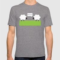 I Love Ewe Mens Fitted Tee Tri-Grey SMALL