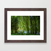 Under The Willow Tree Framed Art Print