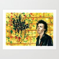 Sid, Eat Your Peas! Art Print