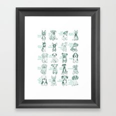 Dogs, Dogs, Dogs Framed Art Print