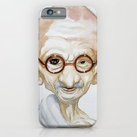 iPhone & iPod Case featuring Gandhi by Jose Luis Ocana