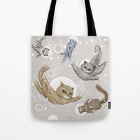 Tote Bag featuring Space cats by Ruta13