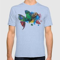 colorful fish Mens Fitted Tee Athletic Blue SMALL