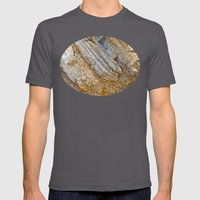 Stunning rock layers Mens Fitted Tee Asphalt SMALL