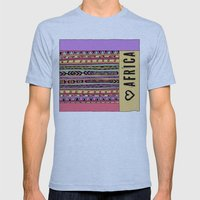 love africa Mens Fitted Tee Athletic Blue SMALL