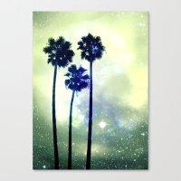 Celestial Palm Trees Canvas Print
