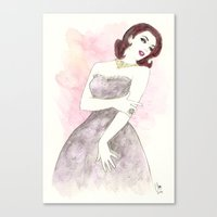 'Scarlett' Watercolor Fa… Canvas Print