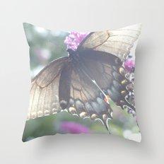 Sheer Butterfly Throw Pillow