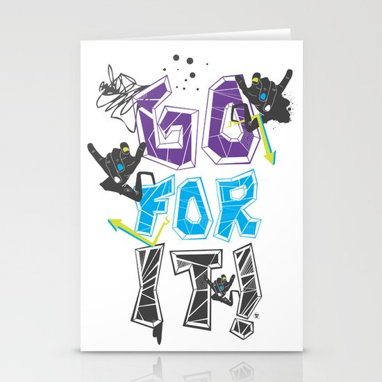 Go for it! Stationery Card