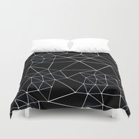Segment Zoom Black And W… Duvet Cover
