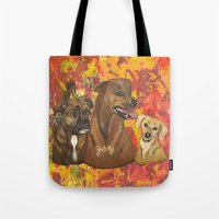 Dogs Bailey , Jake & Mag… Tote Bag