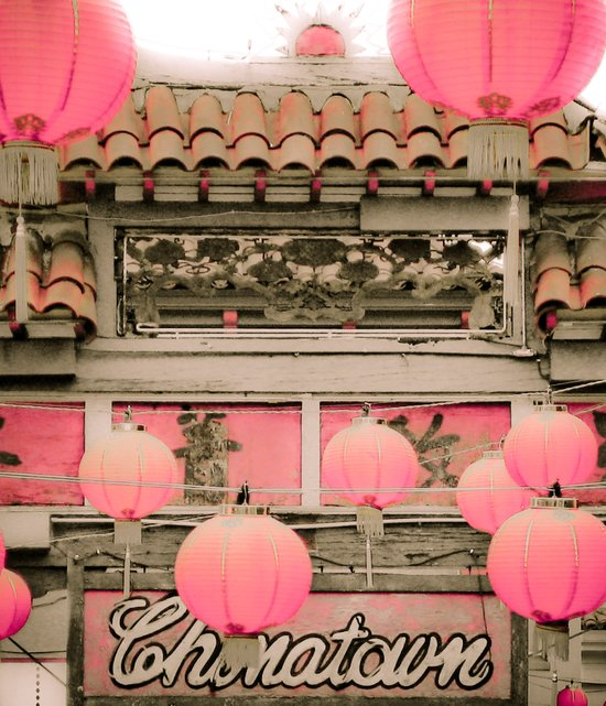Los Angeles - Chinatown Sign Art Print