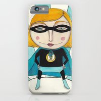 iPhone & iPod Case featuring Superheroine by Sonia Puga Design