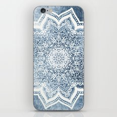 BLUEISH SEA FLOWER MANDALA iPhone & iPod Skin