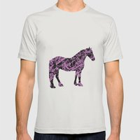 Friesian Scribble Mens Fitted Tee Silver SMALL