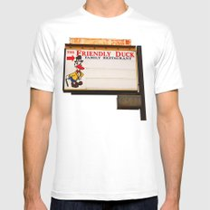The Friendly Duck Restaurant Mens Fitted Tee SMALL White