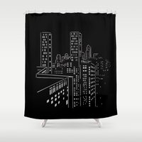 City nights, city lights Shower Curtain