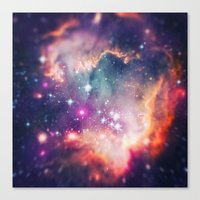 The Universe Under The M… Canvas Print