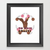 No More Ghosts - Pink He… Framed Art Print