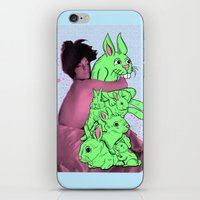 Bunny Pile iPhone & iPod Skin