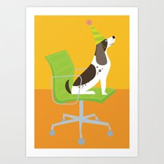 Dog on an Eames Chair for Handsome Devil Press Art Print