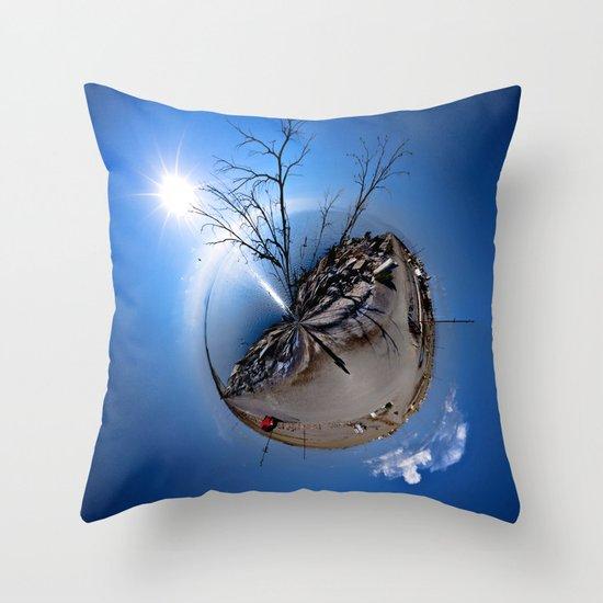 Polar Salton Sea Throw Pillow